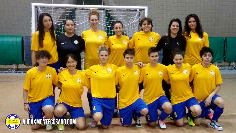 Foto squadra Open Femminile Audax Montecosaro Stagione 2016/2017