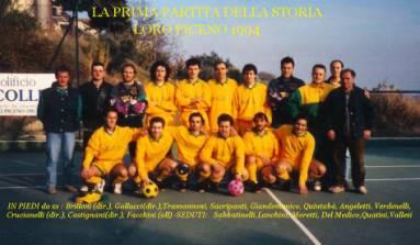 Foto di squadra della prima partita ufficiale nel 1994