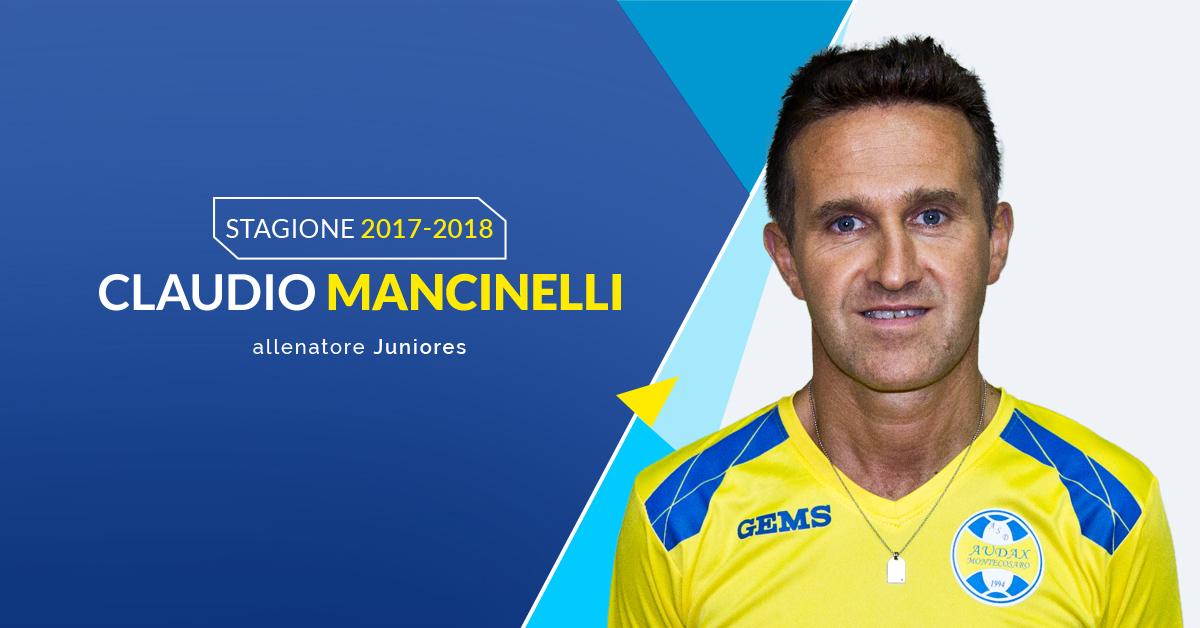 Claudio Mancinelli allenatore Juniores Audax Montecosaro 2017/2018